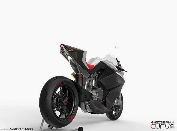 Gambar Curva 1190, Modifikasi Futuristik Ducati 1199 Panigale