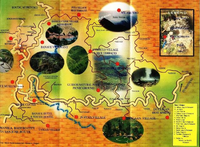 Banaue map, BANAUE – BATAD – SAGADA – BAGUIO TRIP, map banaue, batad map, map batad, banaue directions