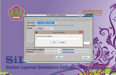 LPJ tidak bisa dicetak