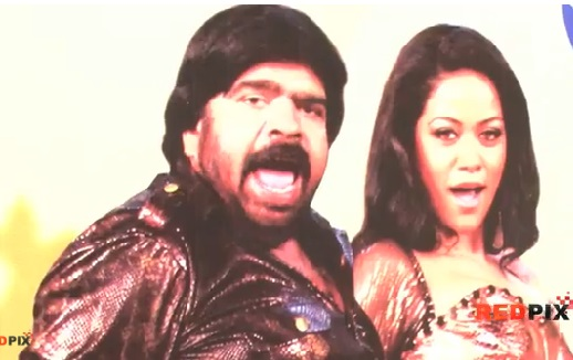Actor T. Rajendar dance for a item song in Tamil Movie Ariya Suriya