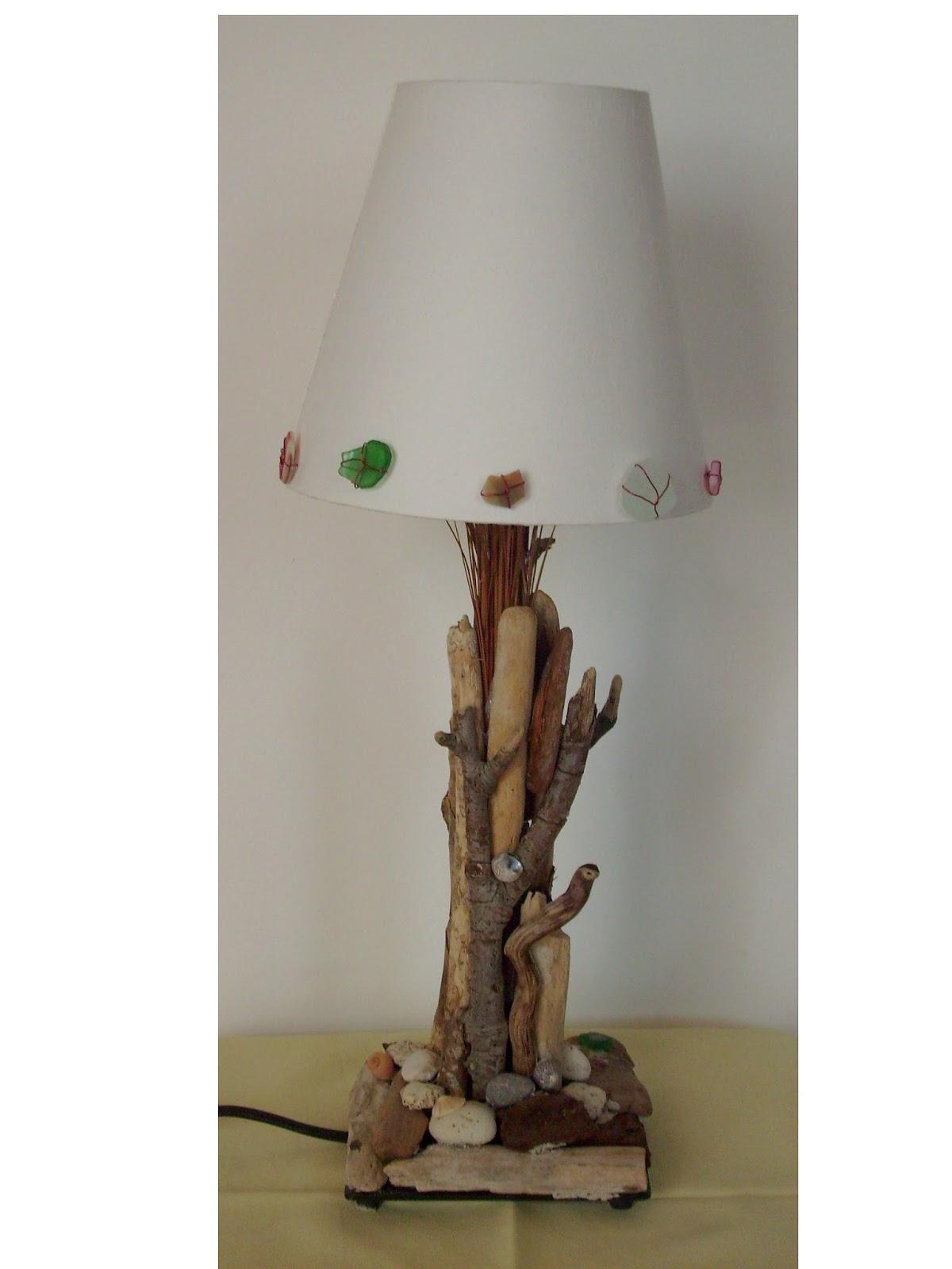 S verine peugniez cr ations lampes et luminaires d 39 ambiance for Creation avec bois flotte