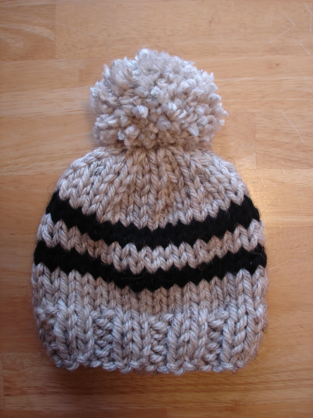 Free Crochet Pattern Chunky Baby Hat : Fiber Flux: Free Knitting Pattern! Toddler Rugby Hat...