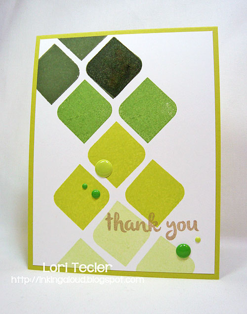 Rounded Diamond Thank You-designed by Lori Tecler/Inking Aloud-stamps from Avery Elle