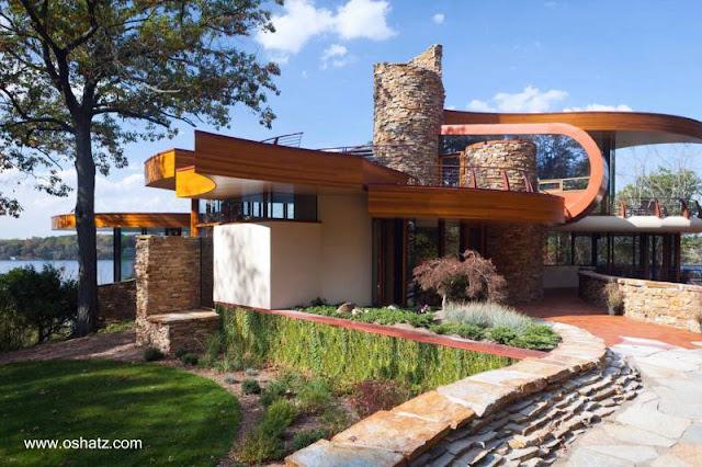 Casa contemporánea diseño orgánico en Chenequa, Wisconsin, Estados Unidos