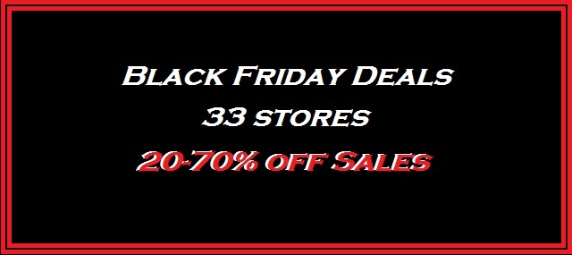 2015 list of Black Friday Deals 20-70% off sales