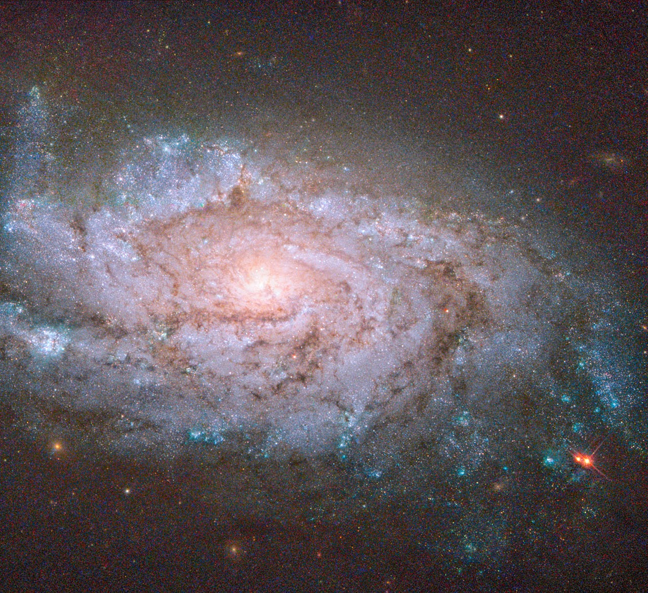 Спиральная галактика NGC 1084