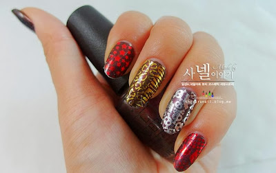 How to apply metallic nails manicure