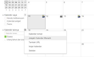 pengaturan google calendar di web