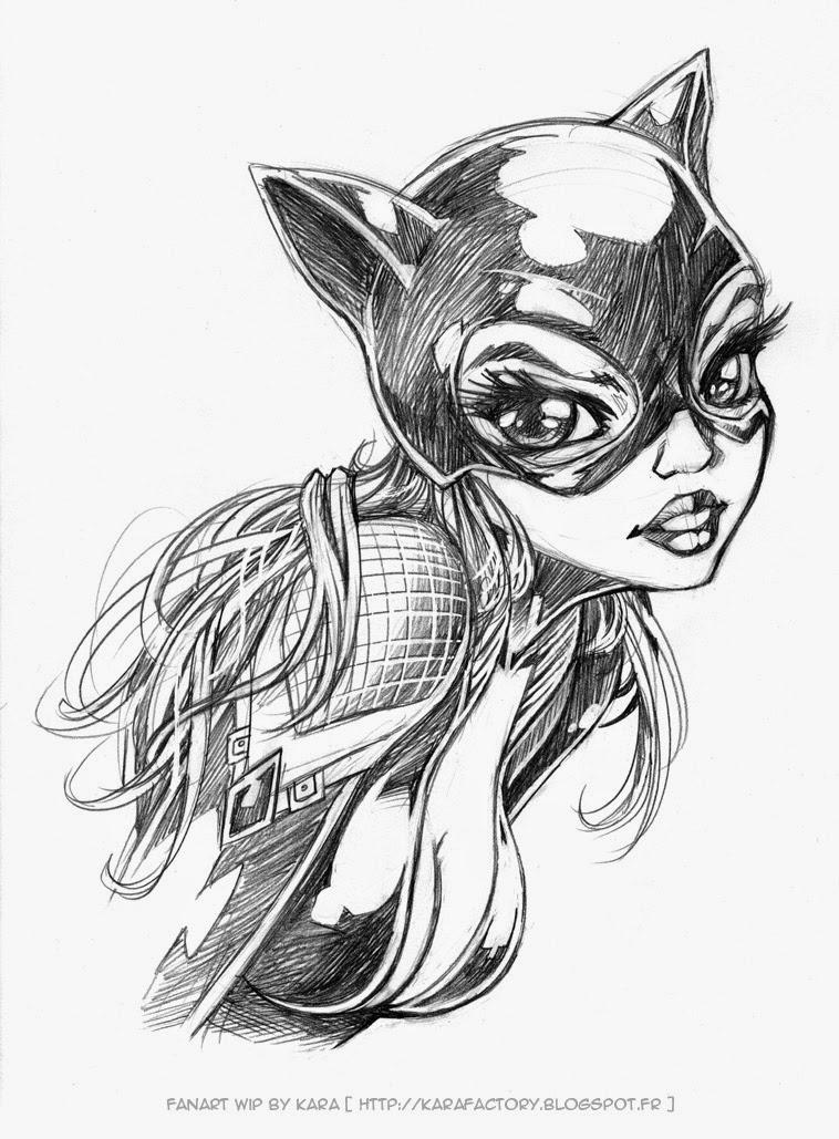 Karafactory voices catwoman 75 me anniversaire - Dessin catwoman ...