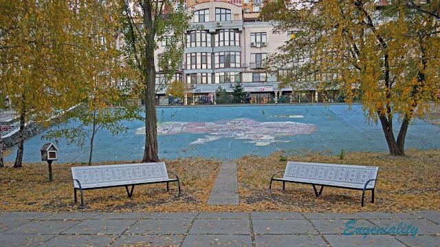 Карта Украины из плитки