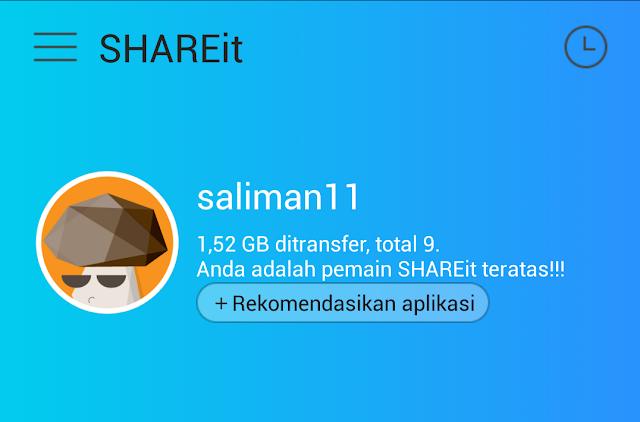 Shareit,aplikasi transfer file tercepat dari adroid