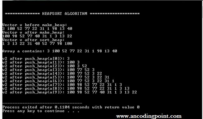 C++ Algorithms