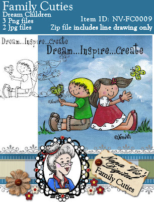 Digital Stamp, Dream Inspire Create from the Family Cuties Collection