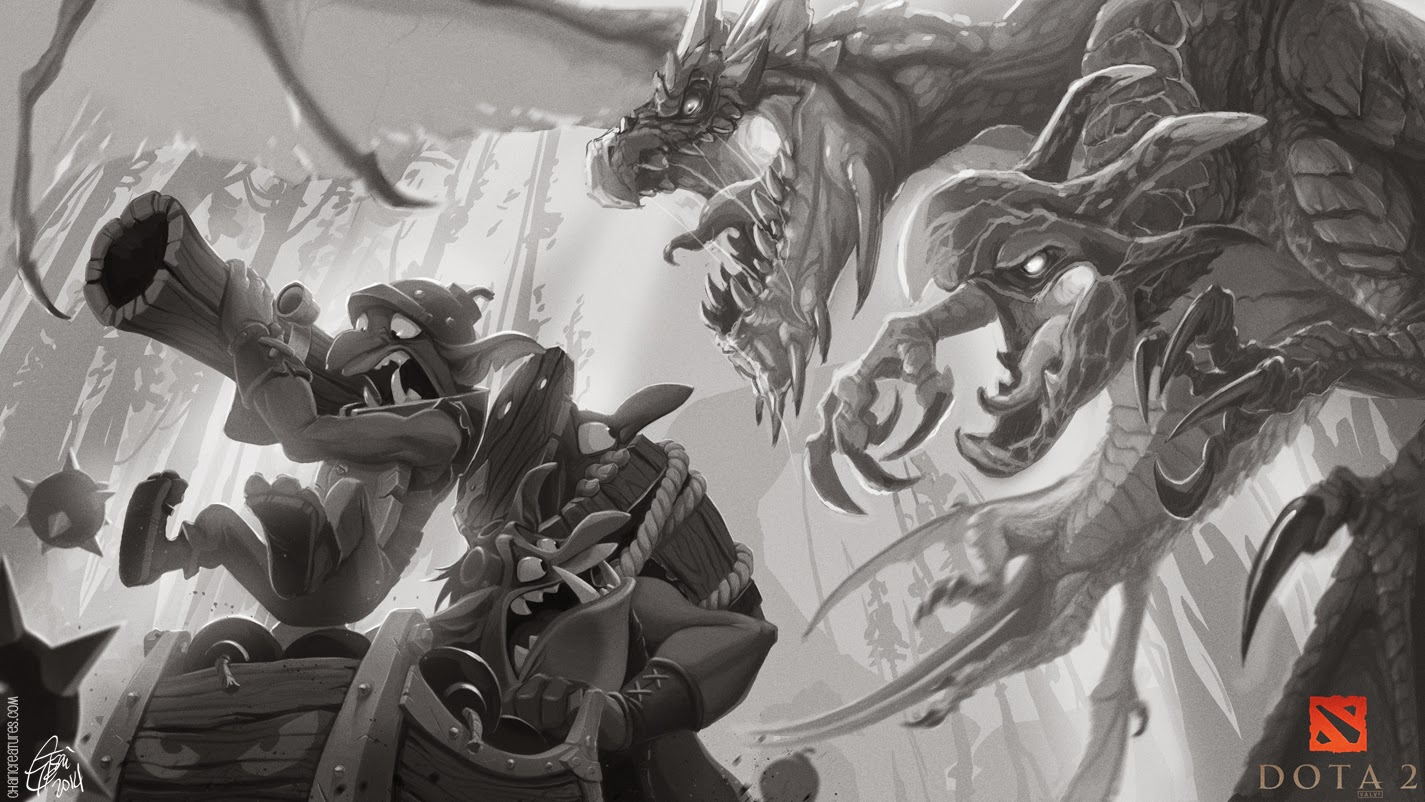Preview Of Amazing Techies Vs Jakiro Art By Genevieve