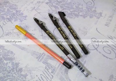 Pensil alis dari Just Miss nomor 209, 708 A, 708C, dan 801