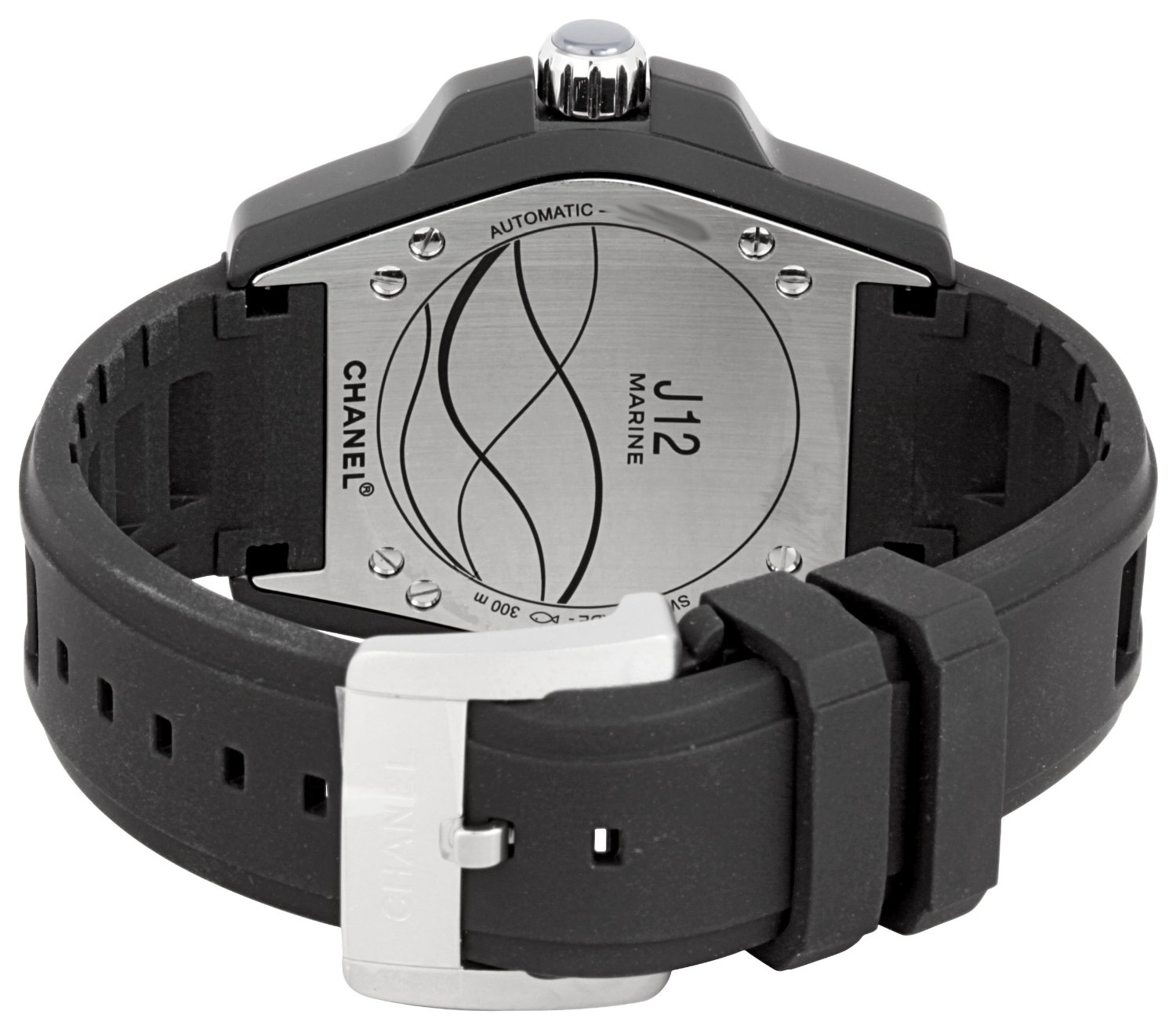 chanel men s h2559 j12 black rubber strap watch bracelet watch chanel launched the j12 watch range in 1999 to major success the j12 watch collection contains chanel s first unisex watch and has a unique style that has