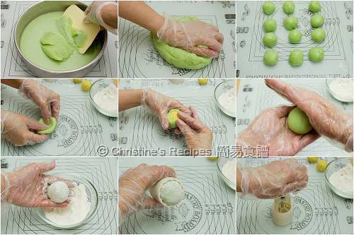 班蘭冰皮月餅製作圖 How To Make Pandan Snow Skin Mooncakes02
