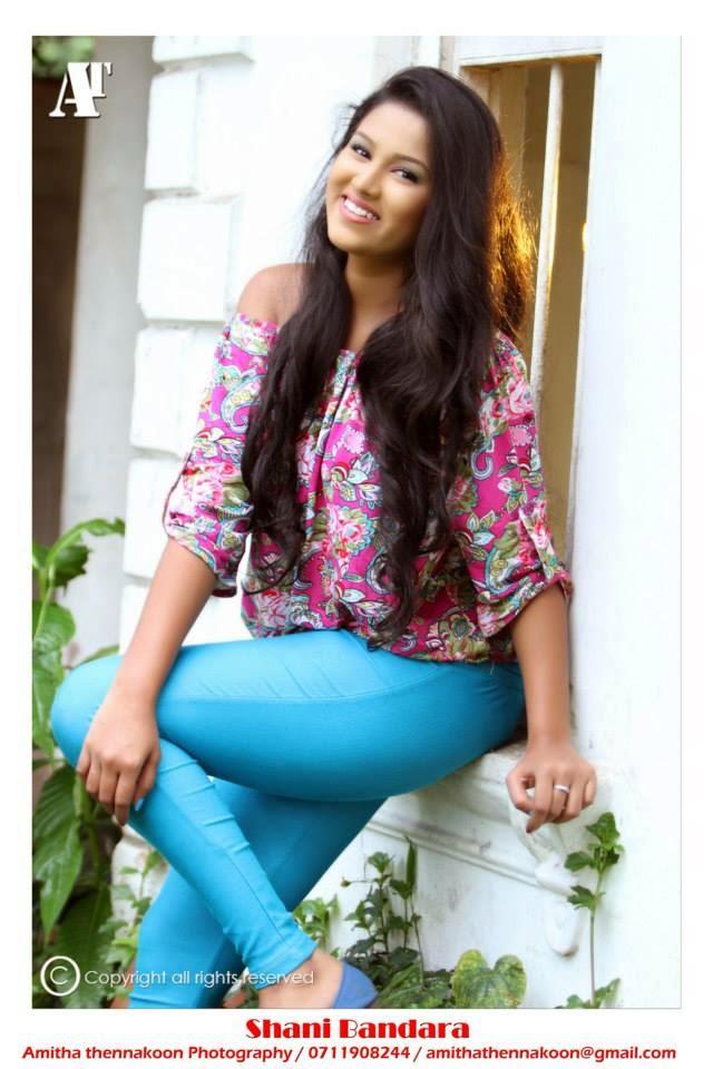 Shanika Bandara blue hot