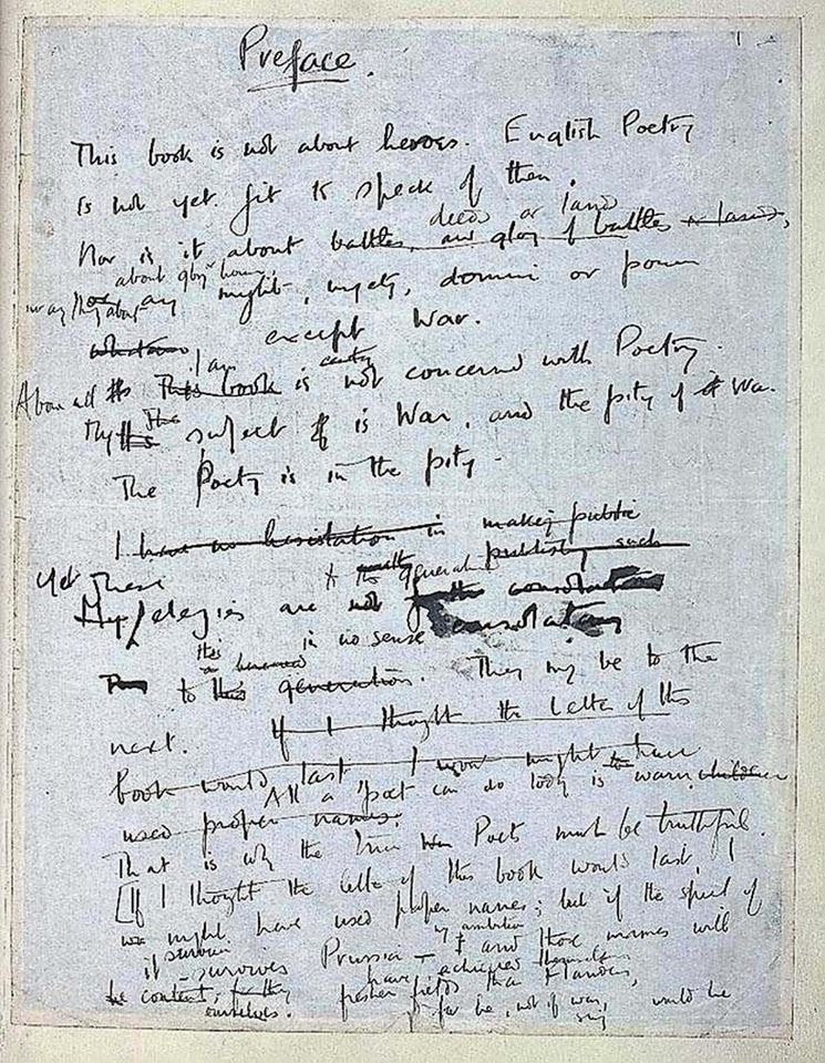 wilfred owen war poems essay Wilfred owen poetry demonised by the press and government wilfred owen's poetry is an excellent example of an anti-war poem none of his poetry describes the success or victory of.
