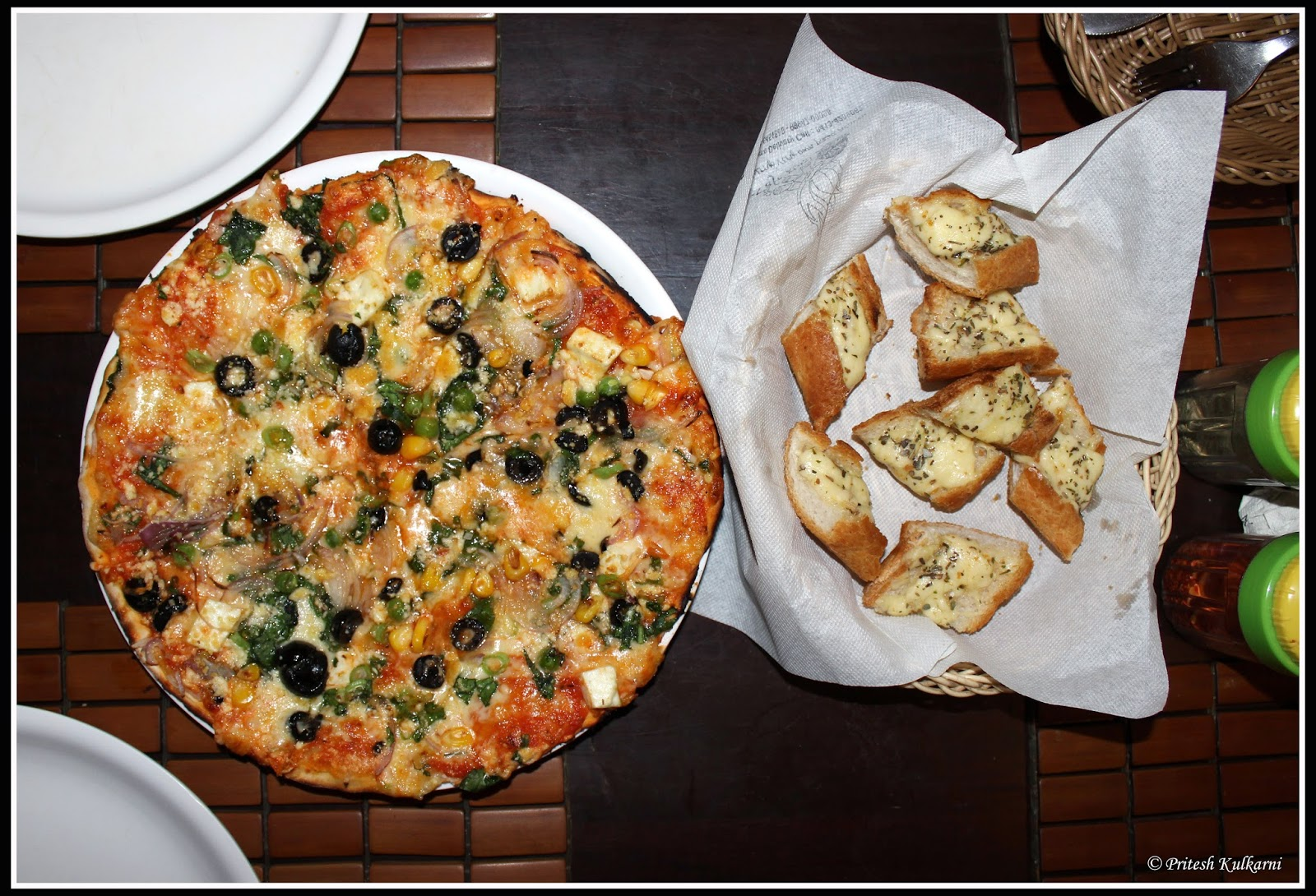 Pizza at Cafe Xtasy