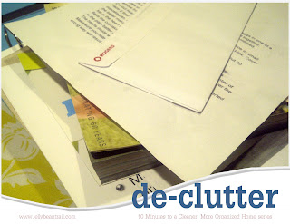 de-clutter your life - 10 Minutes to a Cleaner, More Organized Home series