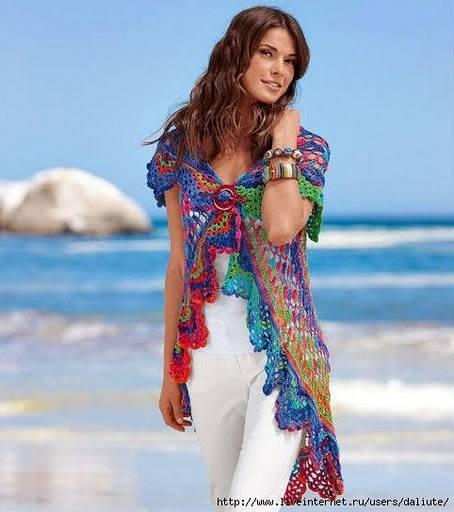 #684 Patrón de Chaleco Redondo a Crochet
