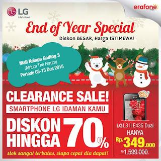 Clearance Sale Akhir Tahun 2015 Smartphone LG Diskon Hingga 70%