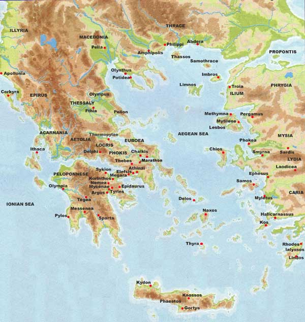 photograph relating to Printable Maps of Greece named Historic Greece Map Printable