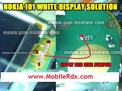 nokia 101 white display problem solution