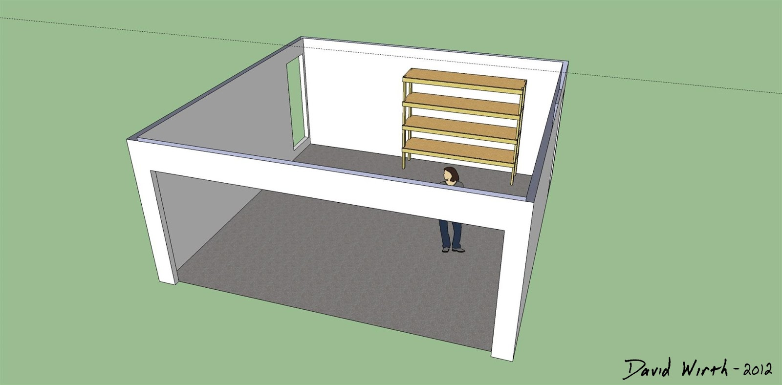 Amazing photo of  sketchup garage shelf wood shelf for garage tools wood shelf design with #8E703D color and 1600x788 pixels