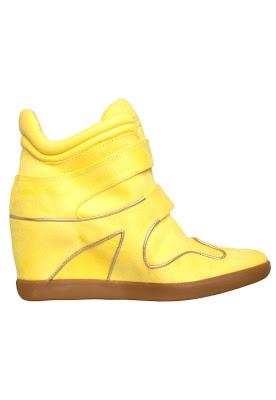 Tênis Sneakers feminino verão 2013 sneaker amarelo