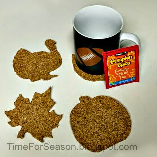 Fall Cork Coasters