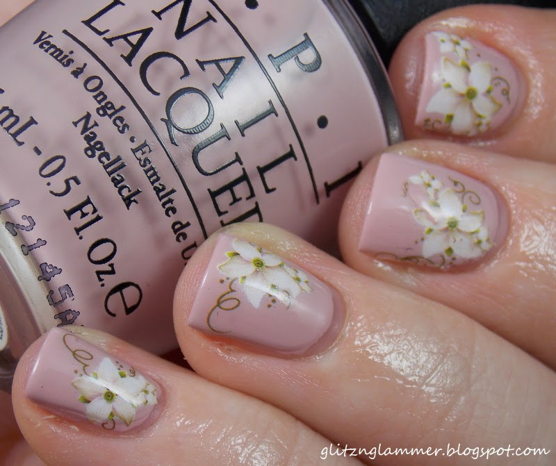 glitznglammer: Floral Water Decal Born Pretty Store Review