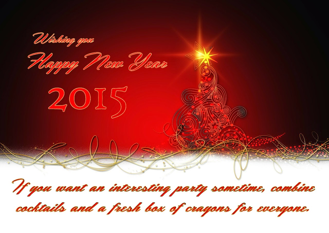 Latest Happy New Year Wishes Greeting Quotes Cards 2015