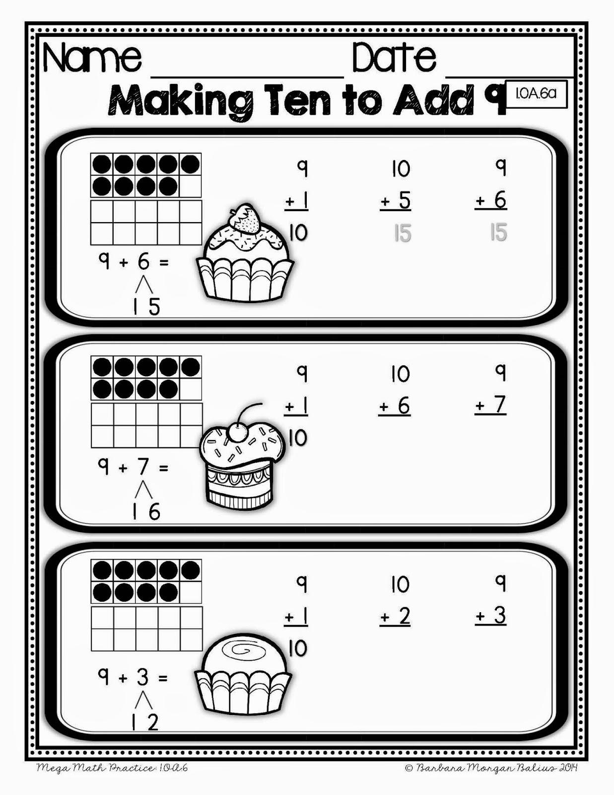 Mrs Balius's First Grade: Making Ten to Add