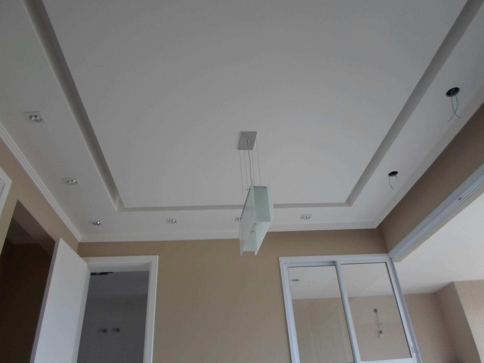 #576474 Forro na sala com ilha cortineiro e iluminação. 1600x1200 píxeis em Decoração De Sala De Estar Com Gesso