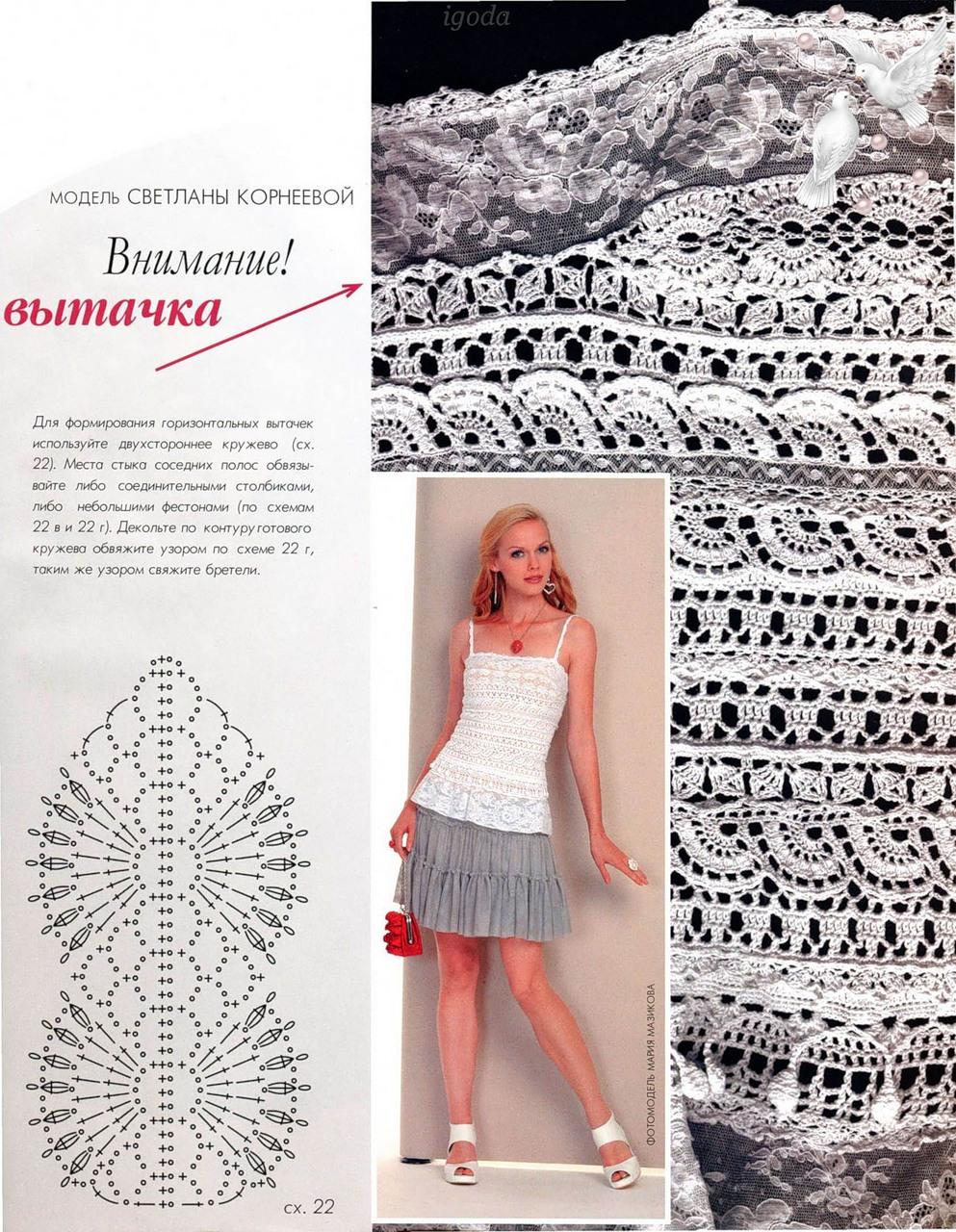 Crochet.es.un.arte!: Top con encaje de ganchillo..