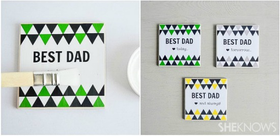 handmade tile photo coasters