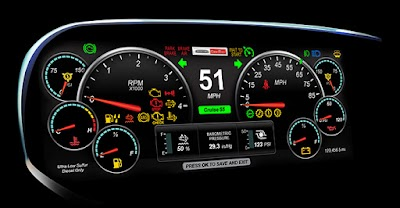 Freightliner Custom Chassis Corp. debuts  industry's first all-digital LCD dash display