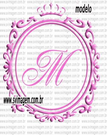 Convite adesivo rótulo de lembrança de aniversário monograma