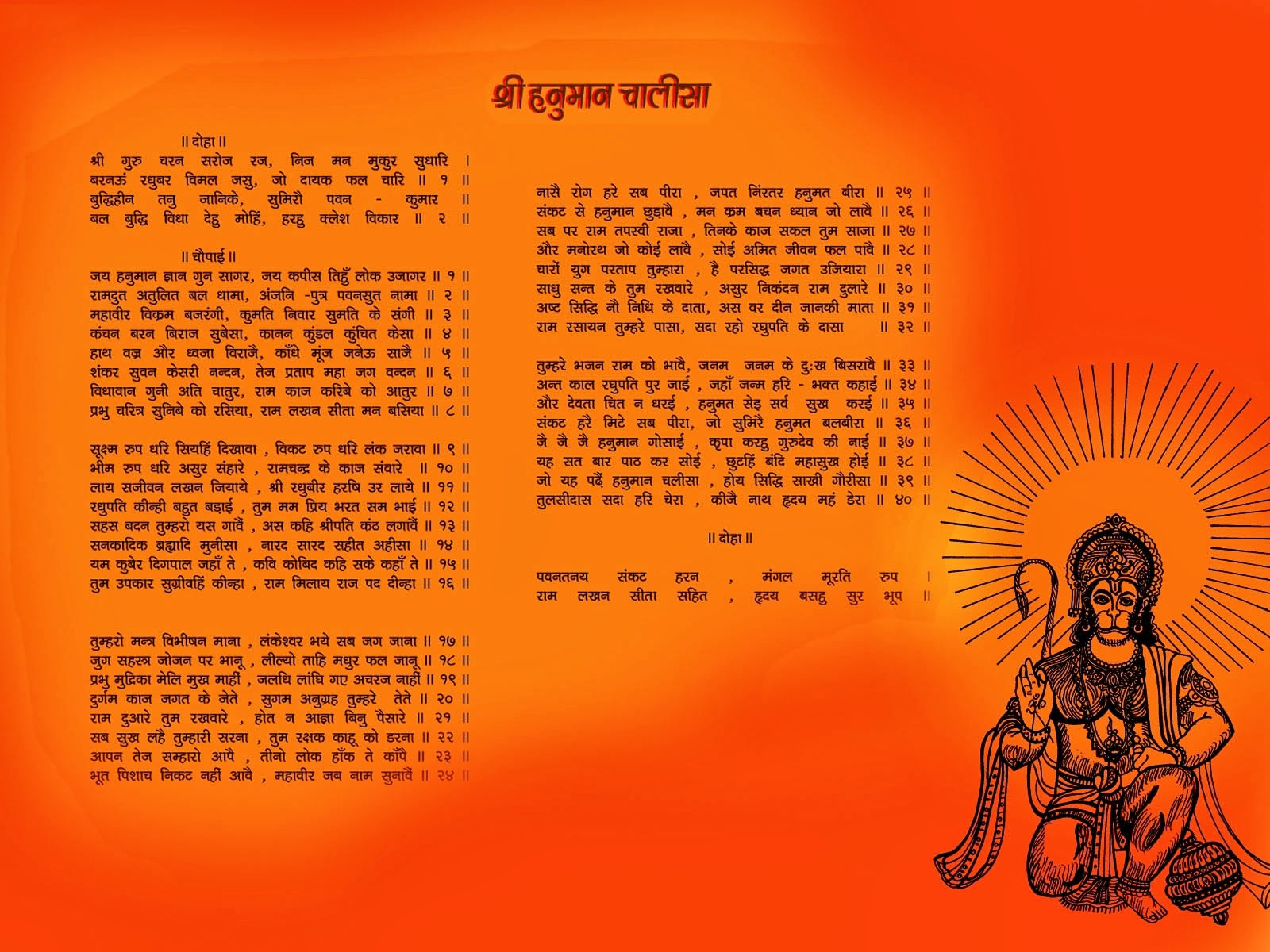 Hanuman Chalisa and Doha Chopai HD Wallpapers for facebook