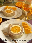 Pomarančová roláda - recept