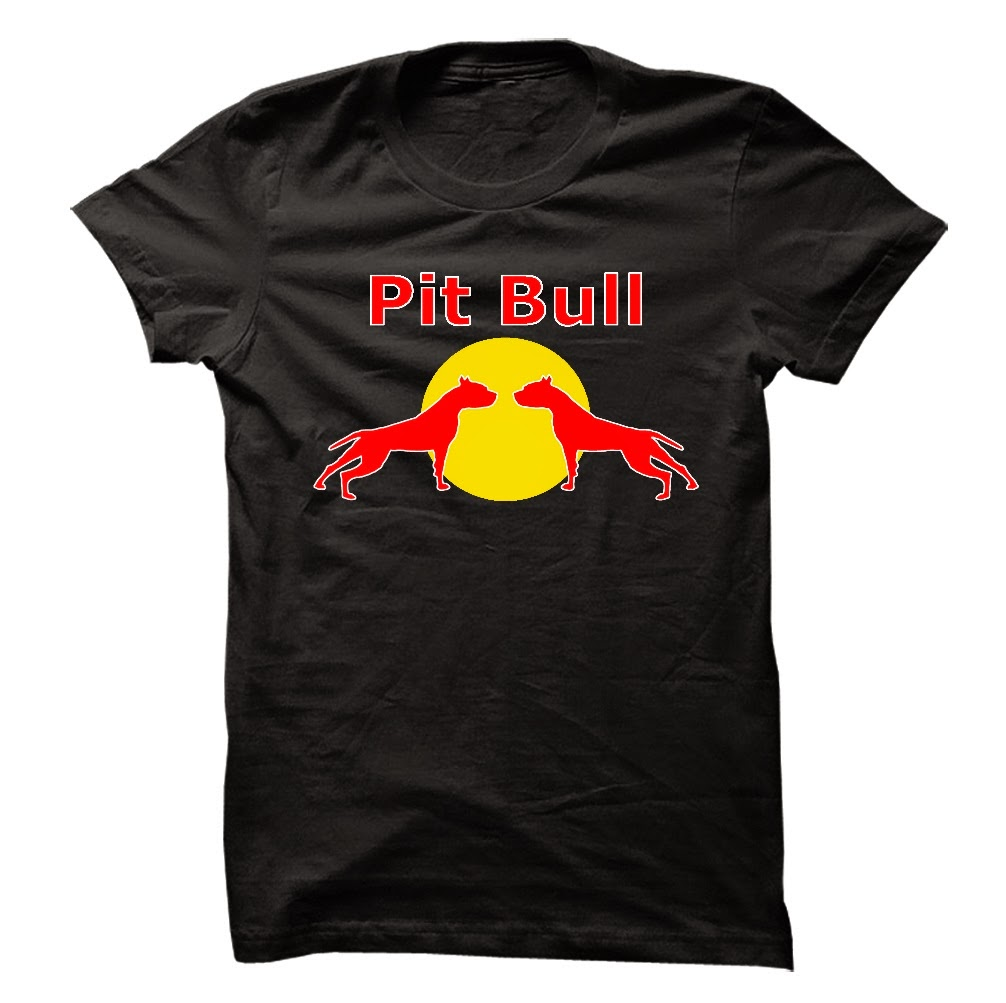 Red Bull logo for Pit Bull lovers T shirt