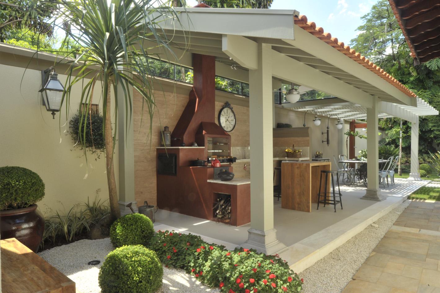 #654833 Blog da Ayda: Uma boa ideia de cozinha gourmet 1419x944 px Projetos De Cozinhas Externas Pequenas #565 imagens