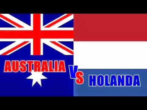 Australia 2 - 3 Holanda. Grupo B