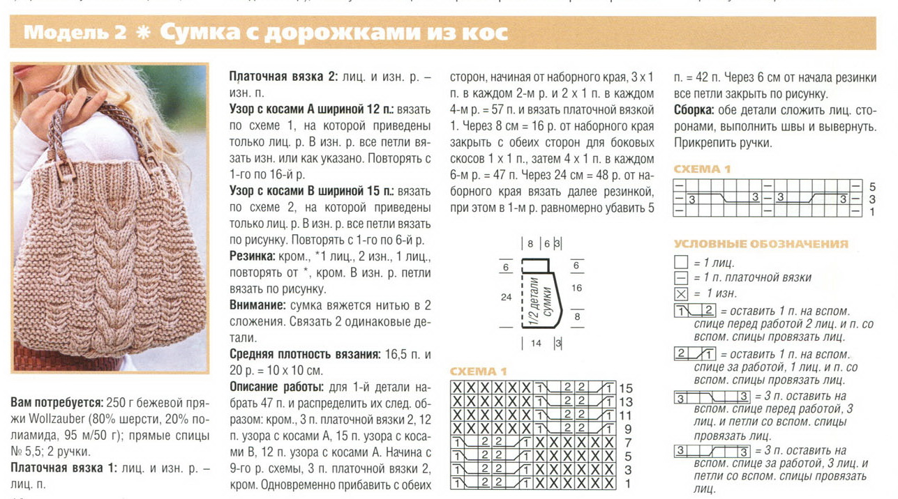 Сайт вязание спицами схемы описание
