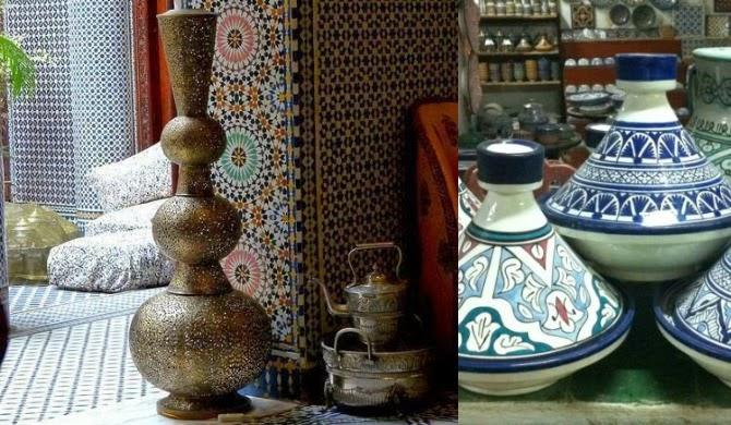 ceramiche e utensili tradizionali marocchini