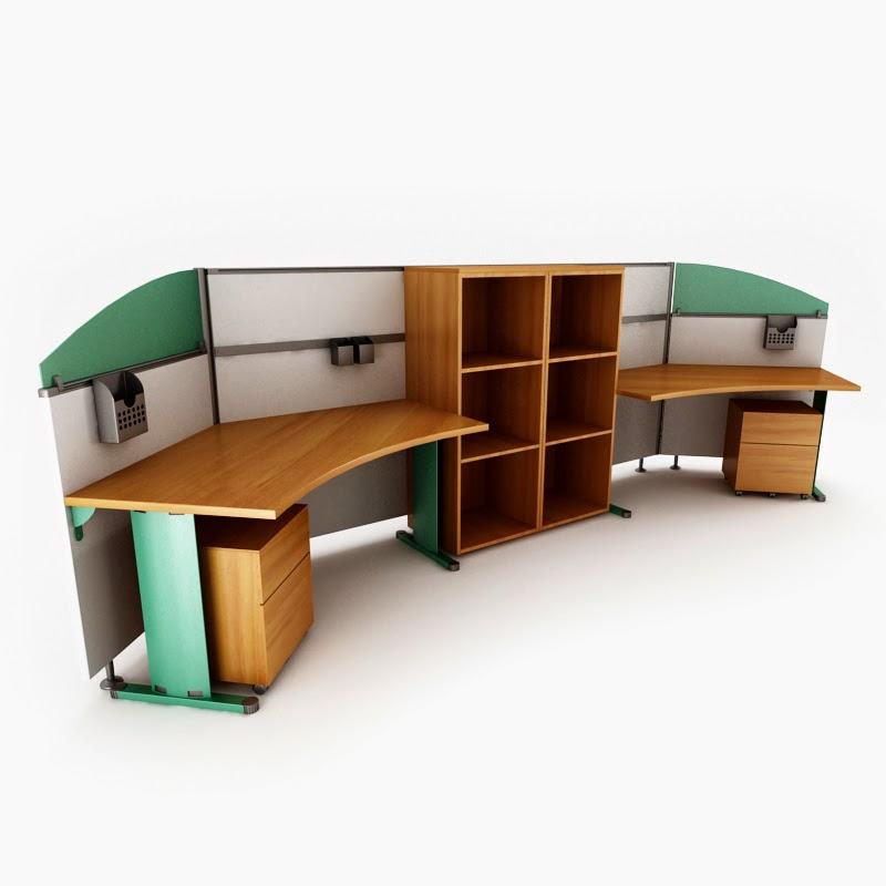 موديلات 3d للمكاتب الحديثة