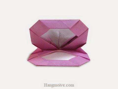Cách gấp, xếp Hộp phấn trang điểm bằng giấy origami - Video hướng dẫn xếp hình đồ thời trang - How to fold a Makeup box