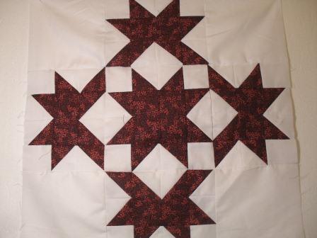 How To Quilt - Quilt Blocks - Simple Quilt Patterns: DOUBLE STAR QUILT BLOCK